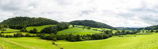 威尔士乡下全景  免版税库存图片