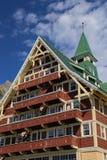 威尔士亲王旅馆Waterton湖国际和平公园加拿大 库存图片