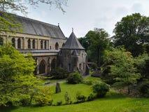 威尔士大教堂的看法 免版税库存图片