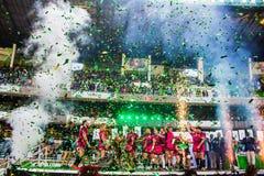 威尔士战士胜利Safaricom Sevens 2014年 免版税库存照片