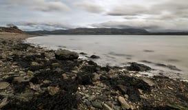 威尔士海岸线在曼格 免版税库存照片
