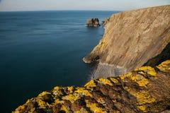 威尔士海岸路径, Trefor。 库存照片