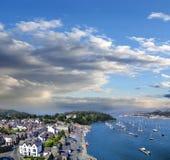 威尔士的海岸有Conwy海湾的在英国 免版税图库摄影