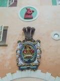 威尔士纹章学徽章和徽章 免版税库存照片