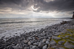 威尔士风暴天空 免版税图库摄影