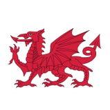 威尔士,传染媒介例证的标志 库存图片