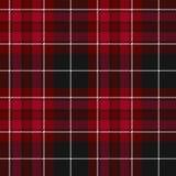 威尔士织品纹理红色格子呢无缝的样式自豪感  免版税库存照片