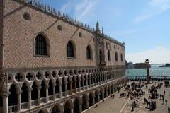 威尼斯、大运河和圣马克广场 库存图片