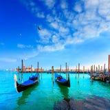 威尼斯。长平底船。Canale della Giudecca。圣乔治Maggiore。 免版税库存照片