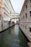 威尼斯。 叹气桥梁  免版税图库摄影