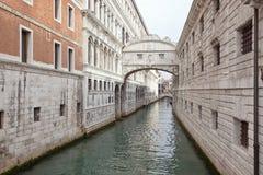威尼斯。 叹气桥梁  免版税库存照片