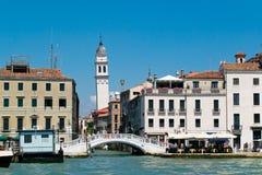 威尼斯从水的都市风景视图 免版税库存图片
