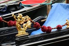 威尼斯伟大的运河长平底船 库存图片