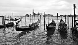 威尼斯伟大的运河,看见giudecca 库存照片