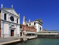 威尼斯历史的市中心,威尼托rigion,意大利-圣玛丽亚 库存图片