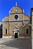 威尼斯历史的市中心,威尼托rigion,意大利-圣玛丽亚 免版税库存图片