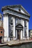 威尼斯历史的市中心,威尼托rigion,意大利-圣玛丽  库存照片