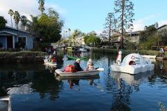 威尼斯圣诞节小船游行 库存照片