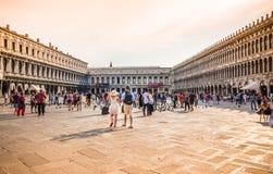 威尼斯圣Marco广场,威尼斯,意大利 库存照片