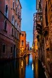 威尼斯在夜之前是惊人的 图库摄影