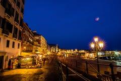 威尼斯在夜之前是惊人的 免版税图库摄影