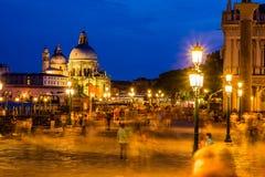 威尼斯在夜之前是惊人的 免版税库存图片