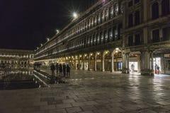 威尼斯在意大利在晚上 库存照片