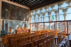 威尼斯大学的历史的内部 图库摄影