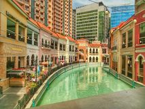 威尼斯大运河购物中心 库存图片