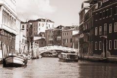 威尼斯威尼托威尼斯式venezia葡萄酒黑色&白色 免版税库存照片