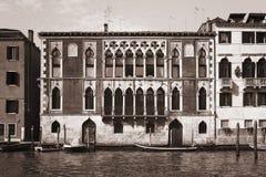 威尼斯威尼托威尼斯式venezia葡萄酒黑色&白色 库存图片