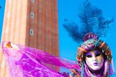 威尼斯屏蔽,狂欢节。 免版税图库摄影