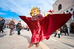 威尼斯屏蔽,狂欢节。 库存图片