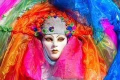 威尼斯屏蔽,狂欢节。 图库摄影