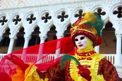 威尼斯屏蔽,狂欢节。 库存照片