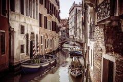 威尼斯市葡萄酒背景  库存图片