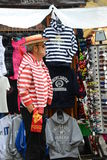 威尼斯平底船的船夫 免版税库存图片