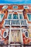 威尼斯建筑学水彩绘了 免版税图库摄影
