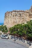 威尼斯式凯里尼亚城堡(第16个c ),北部塞浦路斯 免版税库存照片
