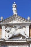 威尼斯式前造船厂武库、复合体和军械库,石狮子,威尼斯,意大利 库存照片