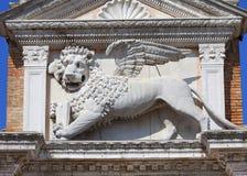 威尼斯式前造船厂武库、复合体和军械库,石狮子,威尼斯,意大利 免版税库存照片