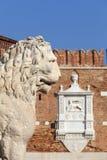 威尼斯式前造船厂武库、复合体和军械库,石狮子,威尼斯,意大利 图库摄影