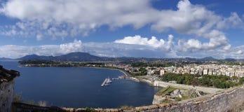 威尼斯式堡垒在科孚岛 免版税库存图片