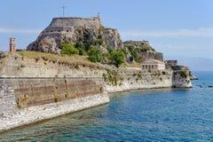 威尼斯式堡垒Palaio Frourio在市科孚岛 免版税库存照片
