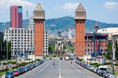 威尼斯式塔。巴塞罗那。 库存图片