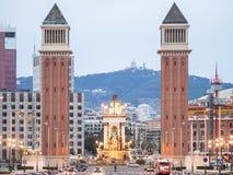 威尼斯式塔,巴塞罗那 库存图片