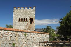 威尼斯式塔, Butrint城堡  免版税图库摄影