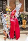 威尼斯式夫妇-威尼斯狂欢节2014年 图库摄影