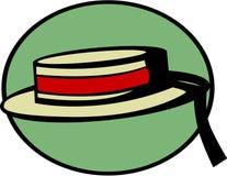 威尼斯式平底船的船夫的帽子 免版税库存照片
