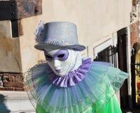 威尼斯式式面具,威尼斯狂欢节是一个最著名在世界上,它典型是面具,被创造对reli 免版税库存照片